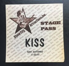 KISS 1977 ALIVEII Tour Backstage Pass VIP Rare Gene Simmons Paul Stanley Vintage