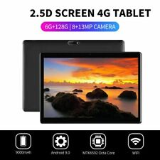 "10.1"" WI-FI/4G-LTE HD PC Tablet Android 9.0 Pad 6+128G SIM GPS Dual Camera pw"