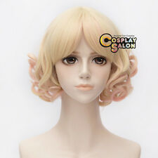 Lolita Light Blonde Mixed Pink 30cm Heat Resistant Curly Hair Wig + Free Wig Cap