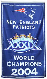 New England Patriots 2004 world Champions  flag 3x5ft  banner US Shipper