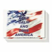 40-Pack American Postcards Set - Bulk Keep Calm and Love America Patriotic