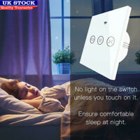 Wifi Smart Dimmer Curtain Light Wall Touch Switch For Alexa Google Home UK