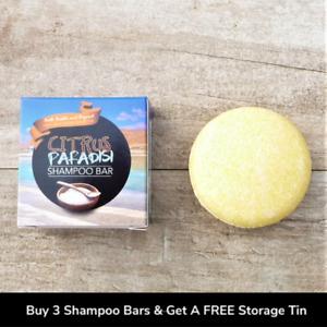 CITRUS PARADISI SHAMPOO BAR - ZERO WASTE PLASTIC FREE ECO FRIENDLY PARABEN FREE