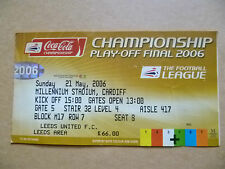 Ticket- Championship PLAY OFF FINAL 2006, Football League, 21 May