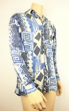 VTG 90s MENS SILK FRESH URBAN OUTFITTERS FESTIVAL ABSTRACT AZTEC PRINT SHIRT M