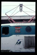 PHOTO  ITALIAN RAILWAY LOCO E656 NUMBER - MAKERS PLATES