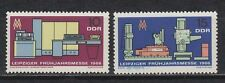 DDR East Germany 1966 ** Mi.1159/60 Messe Fair Computer Bohrwerk Machine