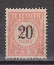 P40 Port nr 40 used gestempeld Nederlands Indie Indonesia due portzegel
