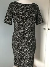 NEW WALLIS Size 16 Tunic Dress Short Sleeve Animal Print Winter - Fits 14/16
