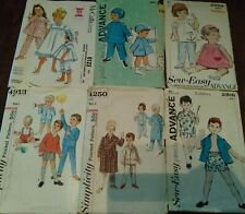 Vintage Sewing Patterns toddlers 60's 70's McCall's sew-easy Simplicity size 1-3