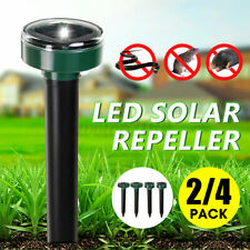 Led Solar Powered Ultrasonic Repellant Mouse Gopher Rat Vole Mole Scarer Lawn