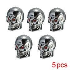 5Pcs Universal Car Auto Skull Wheel Tyre Tire Stem Air Valve Cap Dust Cover