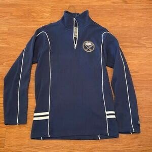 Womens Buffalo Sabres 1/4 Zip Sweatshirt, Size:L