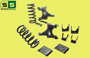 "88-91 Chevy GMC C1500 W/1"" ROTOR V8 STD CAB 3""/5"" Drop Kit SPNDL+COIL+FLIP+SHAKL"