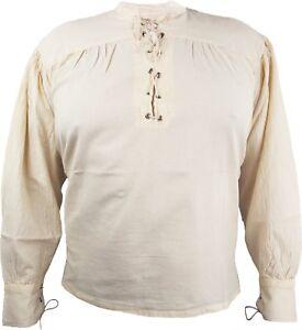Piratenhemd Mittelalterhemd Hemd beige gr.M - 3XL RB. Auslaufartikel