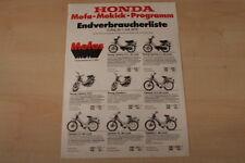 84556) Honda Mofa Mokick - Preisliste - Prospekt 07/1979