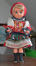 Alte Puppe mit Schlafaugen, im Tracht, Trachtenpuppe, Stehpuppe, Spreewald?
