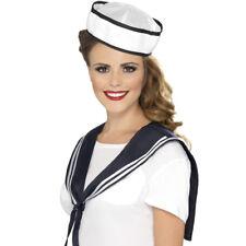 Smiffys Sciarpa e Cappello da Marinaio Bianco