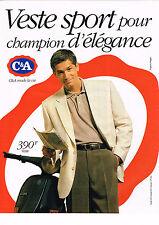 PUBLICITE ADVERTISING 104  1994   C & A  veste SPORT homme  & A Delègue    VESPA