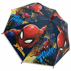MARVEL SPIDERMAN UMBRELLA 9712 Dome Poe Bubble Kids Childrens Licensed