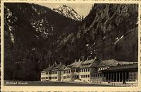 Wildbad Kreuth Bayern alte Ansichtskarte 1940 Blick auf die Kurhäuser Gebirge