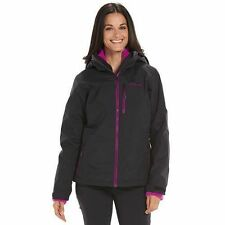 Columbia Women's XL BLACK Slope Sweetie ski 3 in 1 Interchange system Jacket