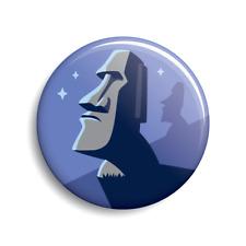 Easter Island Moai (Night) Pin-back Button