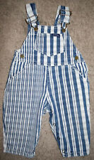 Vintage Baby GUESS Stripe Denim Overalls Toddler One Piece Size 9 Months USA