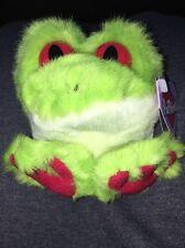 "4"" Swibco 1994 Puffkins Freddy Tree Frog beanbag plush Nwt"