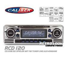 Caliber RCD120 Autoradio CD USB SD Retro Design Look Radio Oldtimer Style Chrom