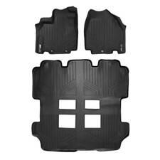 Maxliner 2011-2017 Fits Honda Odyssey Floor Mats 3 Row Set Black A0103/B0103