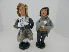 Byers Choice Carolers 2000 Boy & Girl with Coin Very Good Condition