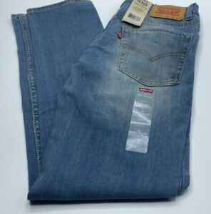 Boys Size 16 Or 18 Levi's 510 Skinny-Fit 4-Way Stretch Blue Jeans $48 Value New