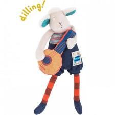 Moulin Roty Les Zig Et Zag Banjo-playing Sheep Rattle Baby Plush Toy 23cm