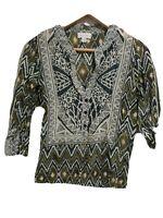 Witchery Silk Cotton Blouse Shirt Long Sleeve Size 6