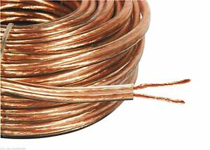50m 15AWG 2 x 2.5mm SPEAKER CABLE WIRE LOUD STRANDS HOME HIFI CAR