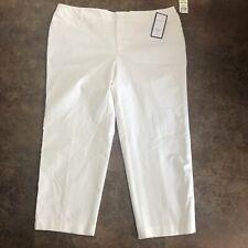 Charter Club Pants Womens Size 18W White Newport Cropped Slim Leg Trousers Plus