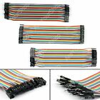 40Pcs Dupont Wire Jumper Câbles 20cm M-M M-F F-F 1P-1P Pour Arduino Breadboard