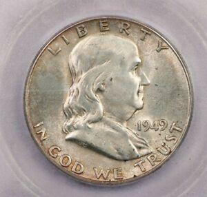 1949-S 1949 Franklin Half Dollar 50C ICG MS64+