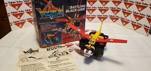(WORKING) 1984 Vintage Voltron Battling Black Lion 1980s LJN Toys with Box