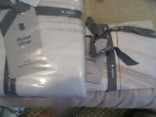 West Elm Sateen Marble duvet King Frost Gray 2 euro shams New w tags