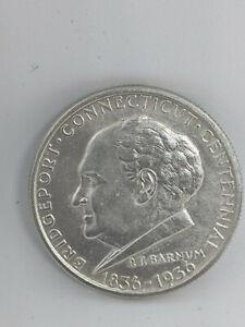 1936 Bridgeport Connecticut Silver Half Dollar 50C - AU