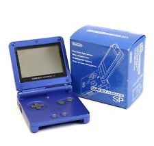 GameBoy Advance console GBA SP #blue + power supply JAPAN boxed  MINT CONDITION