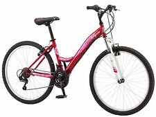 "26"" Mongoose Women's Spire Hybrid Mountain Bike, Red"