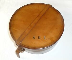 Superb Quality Vintage Tan Brown Leather Collar Box ~ Ideal Trinket Storage