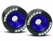 Traxxas 5186A Mntd Wheelie Bar Tires/Whls Blue (2) Stampede 4x4 VXL / Bandit