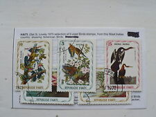 5 Stamps from Haiti, Birds