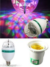 LAMPADINA LED RGB MULTICOLOR 3 LUCE LED COLORA ROTANTE 3W CON SPINA