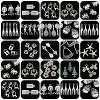 Tibetan Silver Charms Pendant Bead Caps Spacer Beads Different Styles YOU CHOOSE