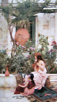 Fine Oil painting J. W. Waterhouse - The Toilet nice young girl with sisters 36""